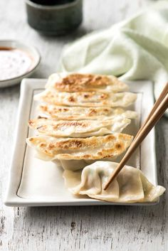 A traditional, authentic Japanese Gyoza recipe! Learn how to make these Japanese dumplings / potstickers, including a video showing how to wrap them.
