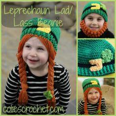 FREE Pattern Leprechaun Lad/Lass Beanie-coliescrochet.com