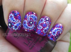 Boysenberry Paisley Nails. A little much for fingernails, I think, but this would be ADORABLE as a pedicure