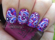 awesomeness.  Holy Manicures: Boysenberry Paisley Nails.