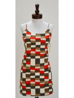 Alice + Olivia Russel Slip Dress In Red Check Print - NewChicBoutique.com