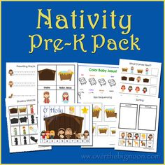 Nativity Pre-K / Preschool / Tot Pack!  25 pages of learning fun for your preschool aged kids!
