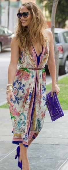 """scarf printed dress (=^.^=) Thanks, Pinterest Pinners, for stopping by, viewing, re-pinning, & following my boards.  Have a beautiful day! ^..^ and """"Feel free to share on Pinterest ^..^  #women #topfashion #fashionandclothingblog"""