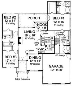 1000 images about floor plans on pinterest floor plans for House plans 1600 to 1700 square feet