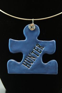 Autism awareness  Ceramic Jewelry  Personalized by kimjustice, $30.00