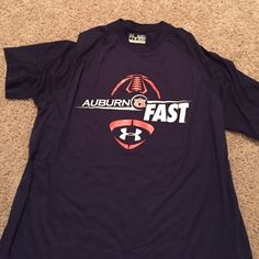Under Armour Auburn FAST Football T-Shirt! Under Armour Auburn FAST Football T-Shirt! Size: medium!! Only worn a couple of times, in perfect condition!! 100% polyester! Under Armour Tops Tees - Short Sleeve
