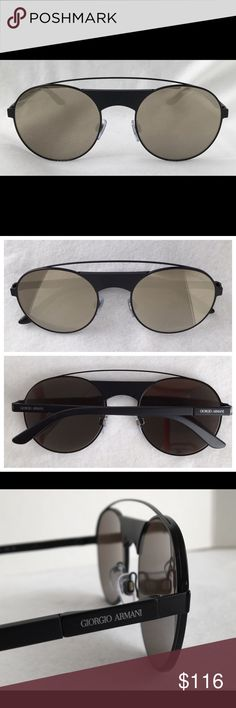 146f80414f Giorgio Armani Sunglasses AR6047 color 3001 5A Blk Giorgio Armani Sunglasses  AR6047 color 3001 5A Black frame with Brown Gold Mirror 3N lenses. Size 53.