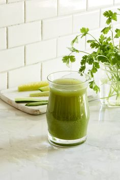 Alkaline Dreaming Green Juice - Looking for delicious juice fast and juice cleanse recipes? This romaine, lemon, celery, cucumber, and cilantro juice. is cleansing and delicious!