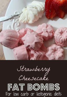As we talked about with our recipe for the Nutbutter Cup Fat Bombs, increasing fat intake is a part of many healing diets.  These delicious strawberry cheesecake fat bombs can be made easily at home, and if you use dripped yogurt in place of the cream cheese they are GAPS legal and rich in probiotics....
