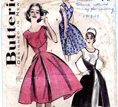 Vintage 1950s Walk Away Dress pattern by allthepreciousthings, $55.00