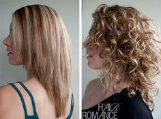 Hair Romance - Straight vs curly hair- tips for curly haircut Curly Hair Styles, Haircuts For Curly Hair, Curly Hair Cuts, Medium Hair Styles, Straight Hairstyles, Cool Hairstyles, Great Haircuts, Curly Vs Straight Hair, Hairstyle Ideas