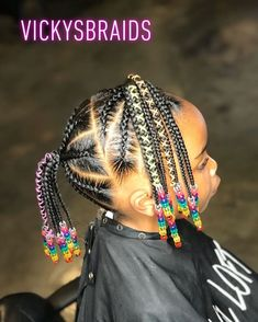 Toddler Braided Hairstyles, Toddler Braids, Black Kids Hairstyles, Cute Little Girl Hairstyles, Little Girl Braids, Baby Girl Hairstyles, Natural Hairstyles For Kids, Young Girls Hairstyles, Kids Braids With Beads