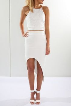 Alily Crop $45.00 + Jules Skirt White $49.00 Shop Top // http://www.jeanjail.com.au/ladies/alily-crop.html Shop Skirt // http://www.jeanjail.com.au/ladies/jules-skirt-white.html