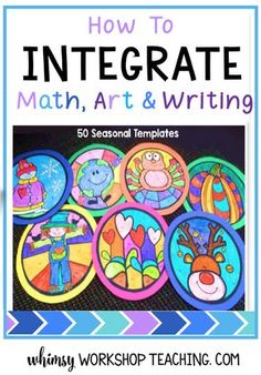 Read about how to integrate math, art, writing and science at the same time! (free color by numbers and writing templates)