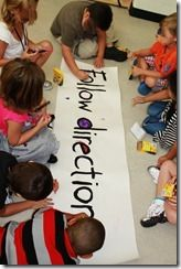 Great first day of school activity to facilitate friendships..BBB Brain and Body Break - put rules on paper and decorate.