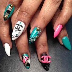 Stiletto nails... Loving the shape of these:)