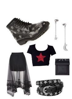 stars by mavv on Polyvore featuring polyvore, fashion, style, Yves Saint Laurent, Topshop and NARS Cosmetics