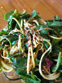 Healthy Raw Noodles and Creamy Vegan Dressing Recipe