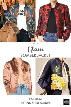 Glam bomber jacket fabrics, on the McCall Pattern Company blog