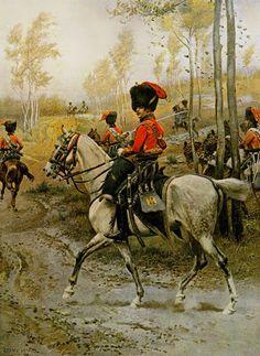 Cazadores a caballo de la Guardia Imperial - Detaille. Más en www.elgrancapitan.org/foro