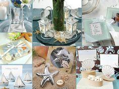 Beach theme wedding favours