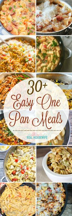 Easy meal ideas and an easy clean up! You will want to save these. Easy one pan meals. The perfect dinner recipes.
