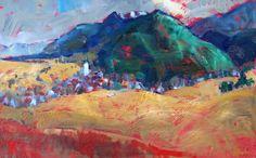 Miroslav Bucher olej 50x70Portret zeme - pod horou Miro, Painting, Painting Art, Paintings, Paint, Draw