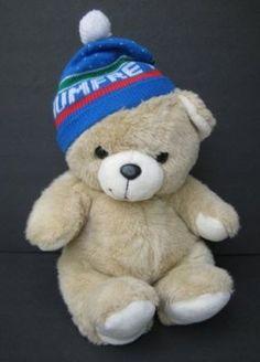Jumbo Vintage Tan HUMFREY TEDDY BEAR Blue Hat TB Trading Plush Toy