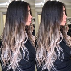 209.8k Followers, 156 Following, 2,248 Posts - See Instagram photos and videos from ✨BALAYAGE & BEAUTIFUL HAIR (@bestofbalayage) Brown Ombre Hair, Brown Blonde Hair, Brunette Hair, Dark Hair, Black Hair With Ombre, Long Ombre Hair, Brunette Makeup, White Hair, Hair Color Balayage