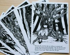The Night Circus themed postcards. These would look cool framed on the tables or placed around the food tables :)