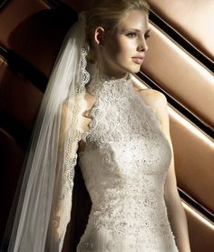 Lace Halter Wedding Dress Gown