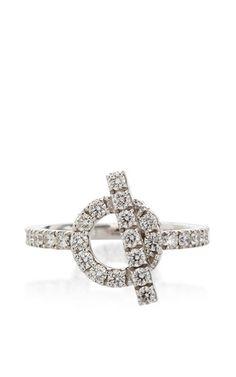 Hermes Finesse 18K White Gold Ring by Portero for Preorder on Moda Operandi