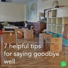 7 tips for healthy goodbyes. (Not planning to go anywhere right now, but this was helpful in reflecting on our move last year.)