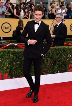 Like he's literal perfection. | OK, But Eddie Redmayne Was This Awards Season's Best-Dressed Babe