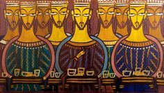 Jamini Roy, Last Supper, 1930 Jamini Roy, What To Do Today, New Museum, Indian Artist, Last Supper, Pencil Drawings, Masters, Old School, Art For Kids