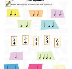 Time signature worksheet for kids!