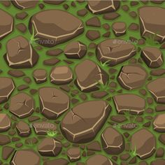 Buy Cartoon Stone On Grass Texture In Brown Colors by BabySofja on GraphicRiver. view from above, Cartoon stone on grass texture in brown colors seamless background Grass Texture Seamless, Stone Floor Texture, Free Cartoons, Creative Icon, Color Vector, Seamless Background, Stone Flooring, Wall Wallpaper, Textures Patterns