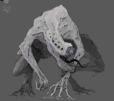 Monster Concept Art, Fantasy Monster, Monster Art, Dark Creatures, Weird Creatures, Mythical Creatures, Creature Concept Art, Creature Design, Arte Dark Souls