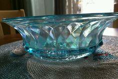 Imperial by Lenox Glass Beautiful Blue Carnival Glass Bowl Lig | eBay