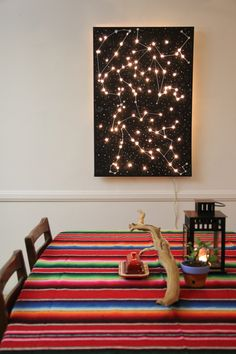 Constellation light canvas (by threadbanger)