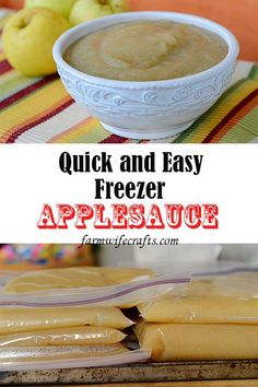 Quick and Easy Homemade Apple Sauce. Perfect to stock up your freezer! Easy Apple Sauce, Apple Recipes Easy Quick, Quick Easy Meals, Freezer Applesauce, Homemade Applesauce, Summer Recipes, Fall Recipes, Snack Recipes, Dinner Recipes