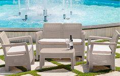 299€ Set de dos Sillones + Sofá + Mesa en color beige Deskontalia Productos - Descuentos del 70%