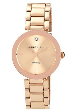 Anne Klein Mirror Bezel Bracelet Watch, 32mm available at #Nordstrom