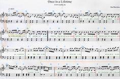 One Direction — Once in a Lifetime Piano Sheets