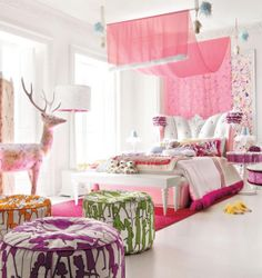 We would help you by providing some ideas of Teen Girl Room Design. Teen Girl Room Design would not be completed when you still do not add the nice wallpaper design. Pink Bedroom For Girls, Teen Girl Rooms, Teenage Girl Bedrooms, Pink Bedrooms, Pink Room, Little Girl Rooms, Tween Girls, Kids Rooms, Toddler Girls