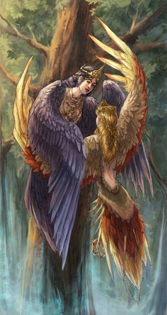 Sirin and Alkonost by Alivis on DeviantArt. Sirin and Alkonost, birds of joy and sorrow. Sirin is a mythological creature of Russian legends, with the head and chest of a beautiful woman and the body of a bird (usually an owl).