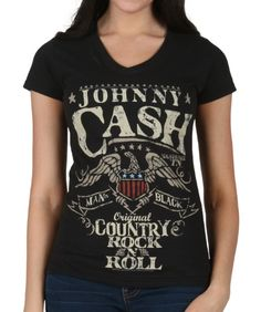 11444a95d71d Womens Johnny Cash Country Rock N Roll T-Shirt Country Music Shirts, Rock  And