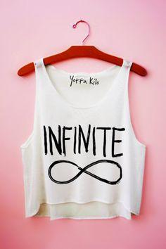 Infinite Crop Tank Top - Yotta Kilo love this website