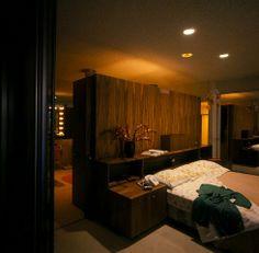 60s retro bachelor pad bedroom