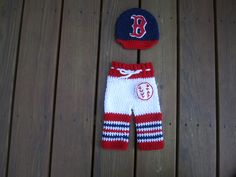 Free Shipping. Newborn Boston Red Soxbaby cap and pants,crochet baby cap,crochet baby pants ,Baseball beanie Boston Red Sox hat by Etvy on Etsy